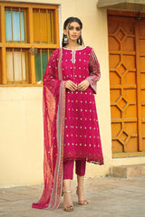 Balochi Style Embroidered Suit (3-Piece)