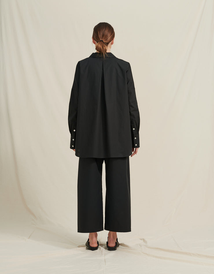 A PART OF THE ART AIRY PANTS ORGANIC COTTON BLACK