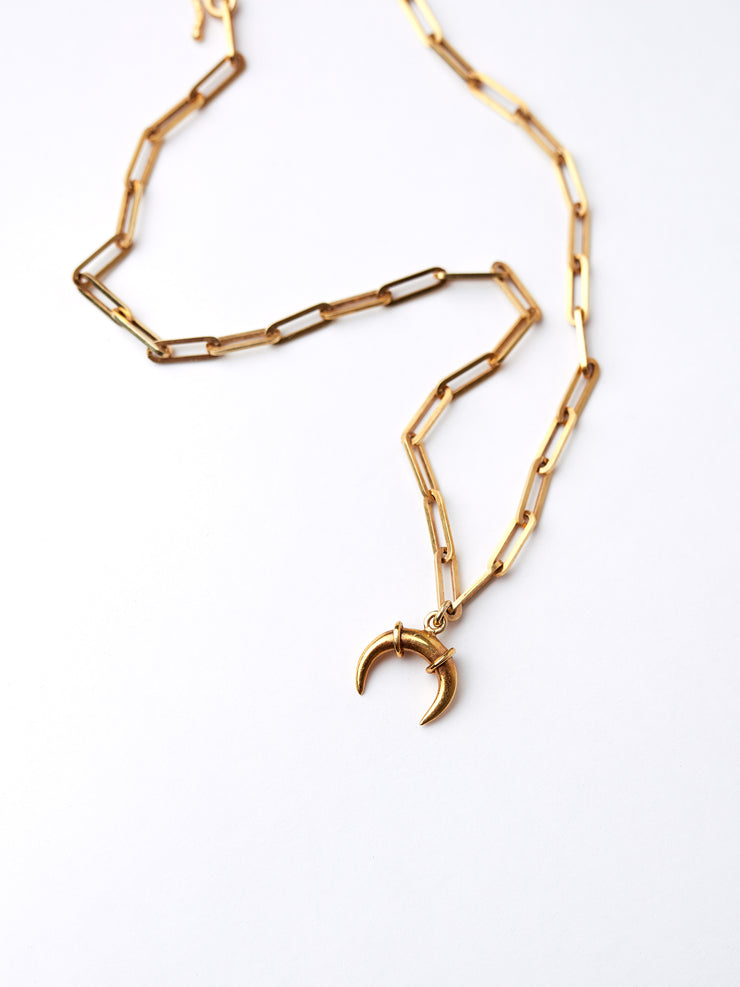 IAMELENI X BLANKENS - LUNAR CHAIN NECKLACE GOLD PLATED