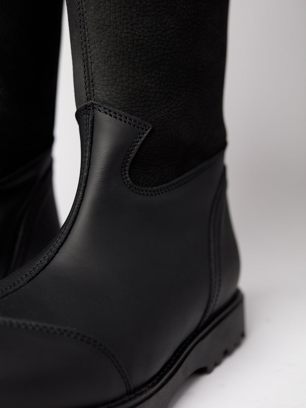 Blankens eco black leather boot The Alexia high black eco. Yourblankens.