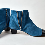 Blankens The La Brea blue suede boot. Made in Portugal from European leather. Affordable luxury - sustainable style!
