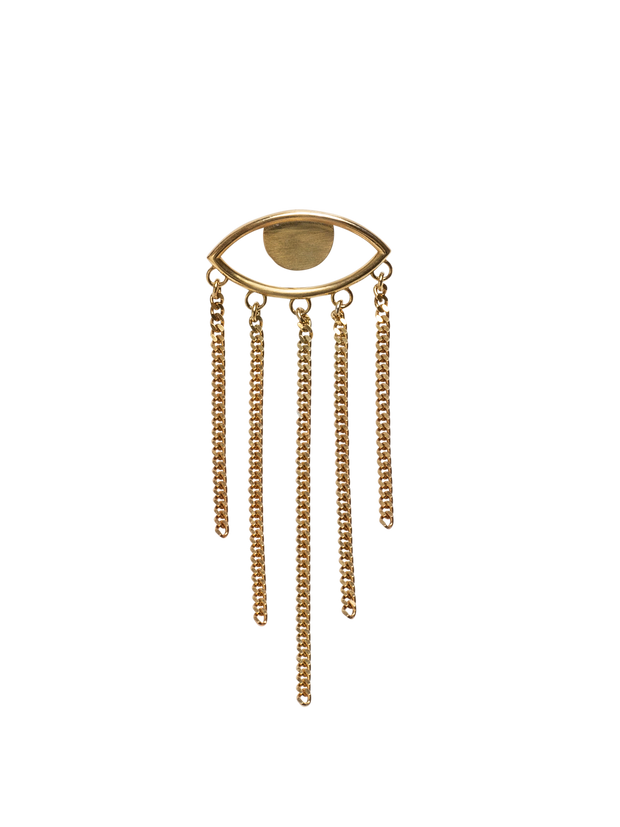 IAMELENI - THE EYE EARRING GOLD