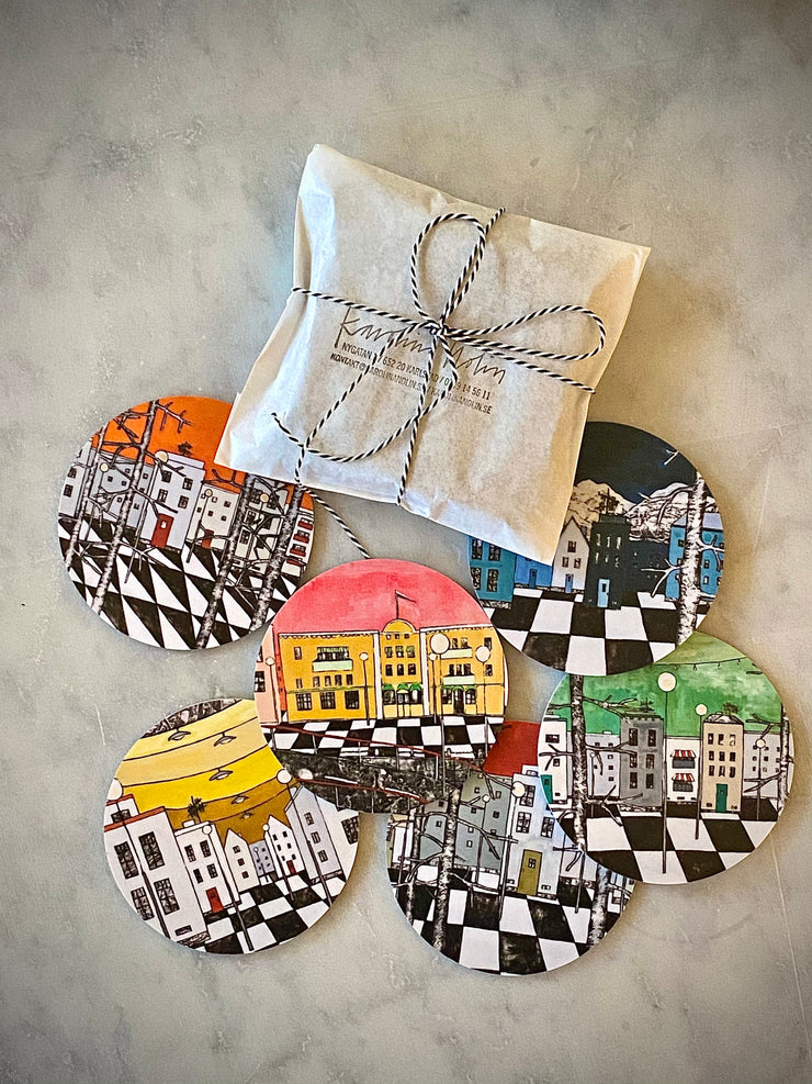 COASTERS MIXED COLOURS - KAROLINA NOLIN