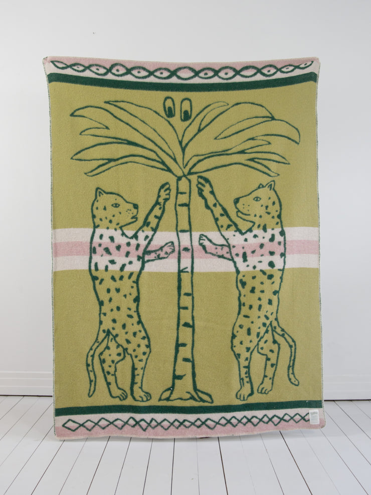 TROPICAL SCANDINAVIA WOOL BLANKET PALM POWER