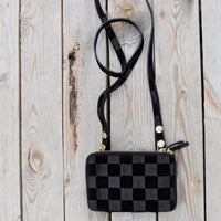 THE MONTAUK BLACK CHESS SUEDE