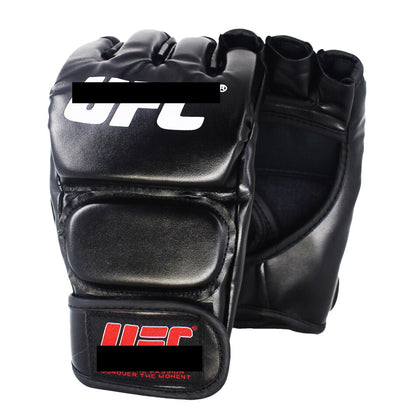 black fighting MMA boxing fitness leather gloves Tiger Muay Thai