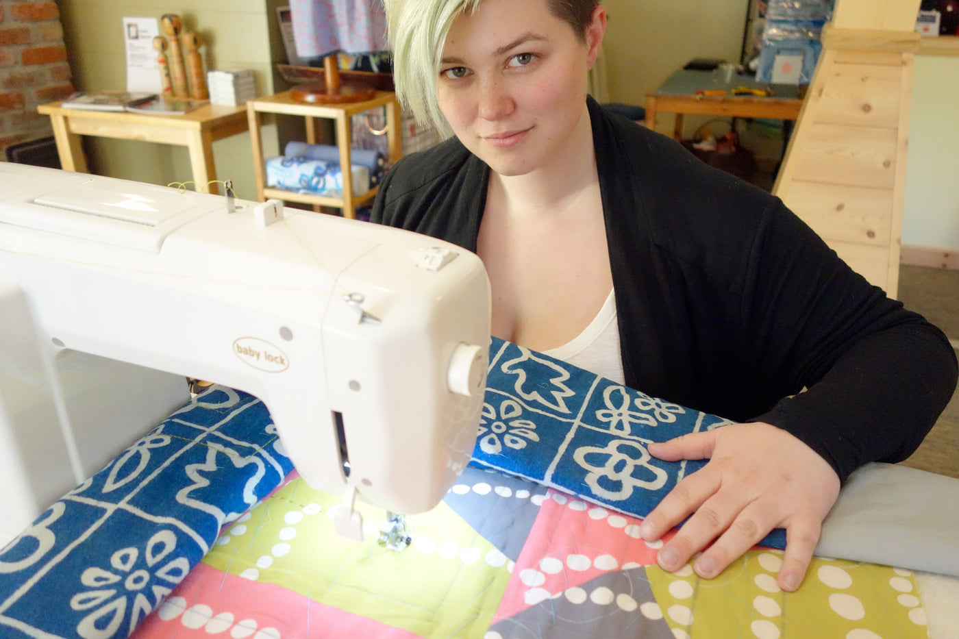 Victoria Stone quilting with the Sashiko 2