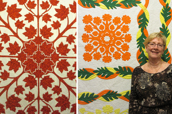 Grace Hawley and her Hawaiian quilts