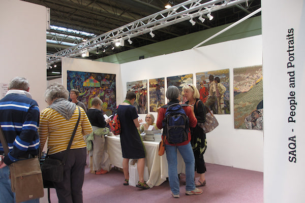 SAQA show at 2014 Festival of Quilts in Birmingham UK