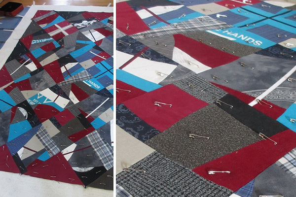 Johnny's Quilt: XXL Heart, a quilt in progress by Patricia Belyea