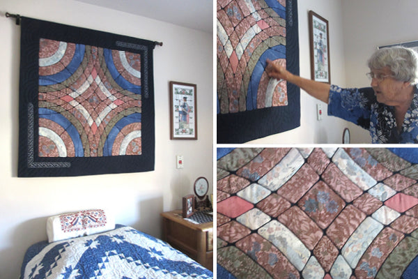 Silk quilt by Kitty Pippen