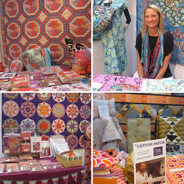 Amy Butler at The Cotton Patch booth at The Festival of Quilts 2014