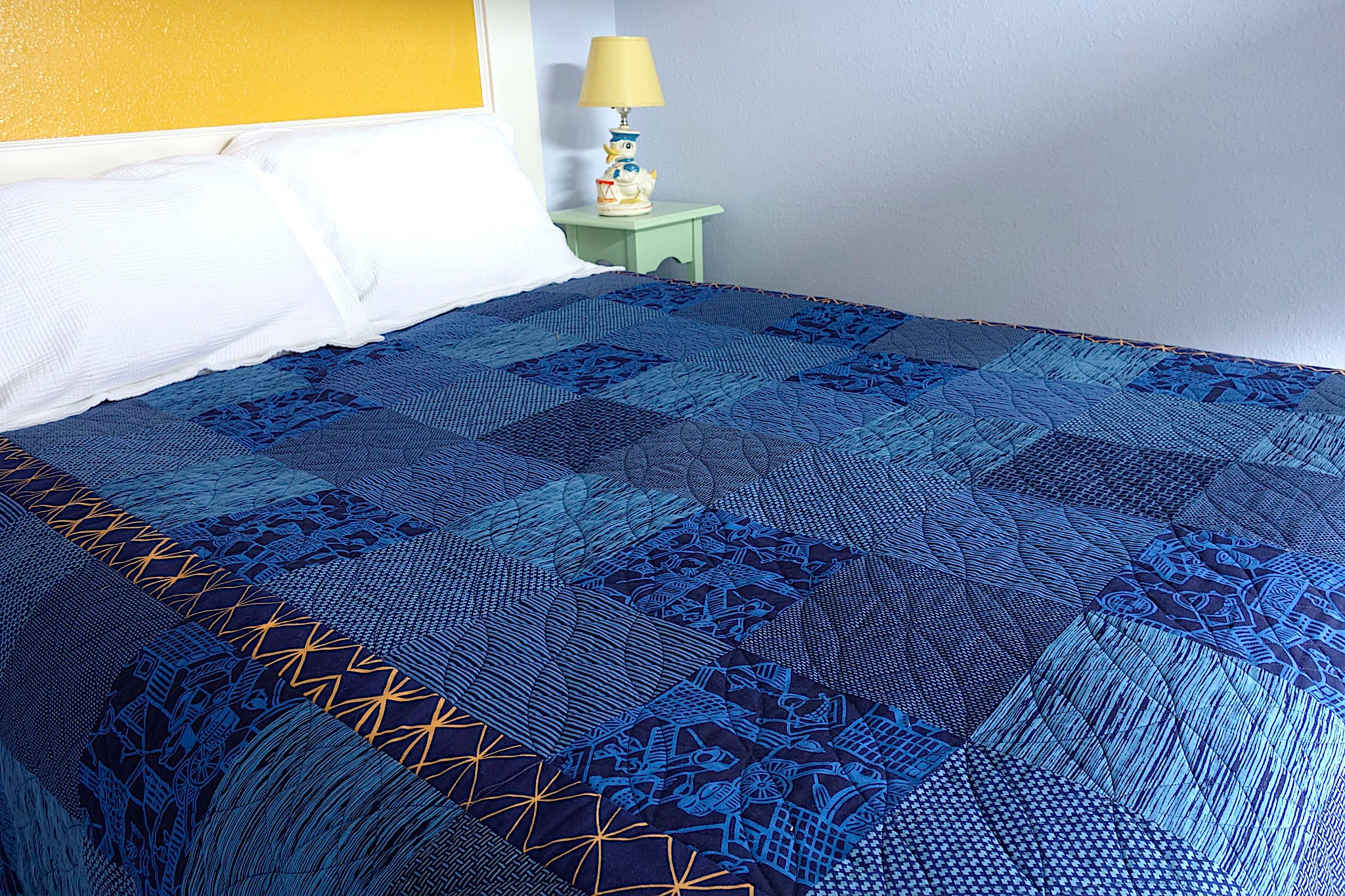 Indiglow, a king-size quilt by Patricia Belyea