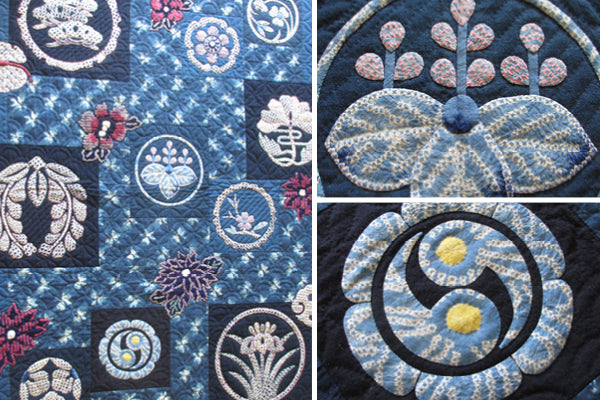 """""""Shibori"""" quilt, by Kitty Pippen"""