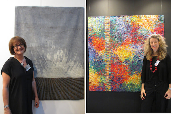 European art quilters Roberta Le Poidevin and Cecile Trentini