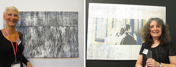 European art quilters Claire Benn and Willy Doreleijers