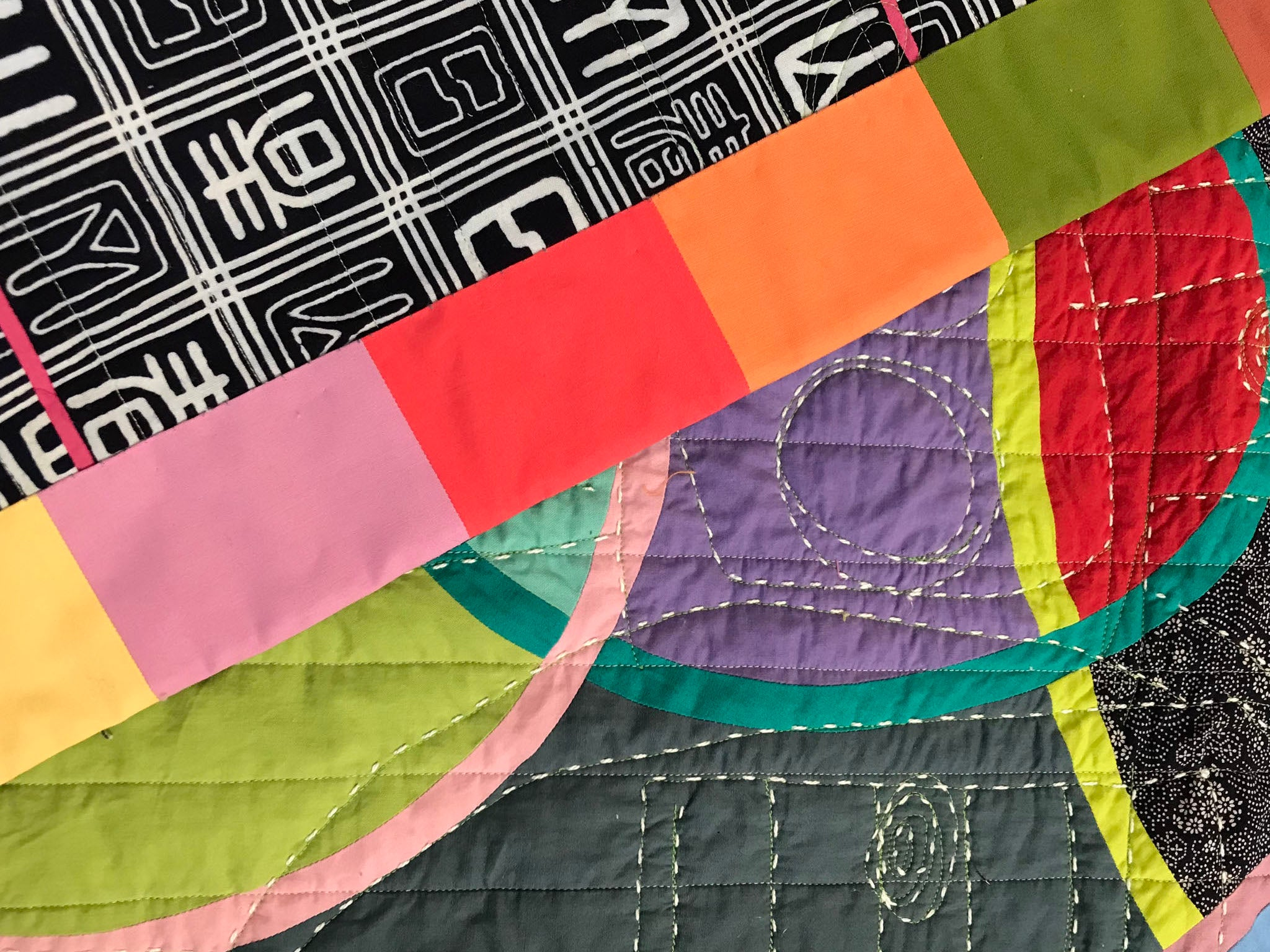 Watermelon From Mars, a quilt by Patricia Belyea