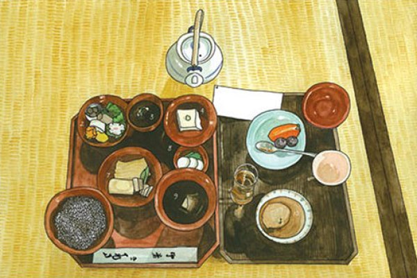 A meal in Japan by Kate T Williamson