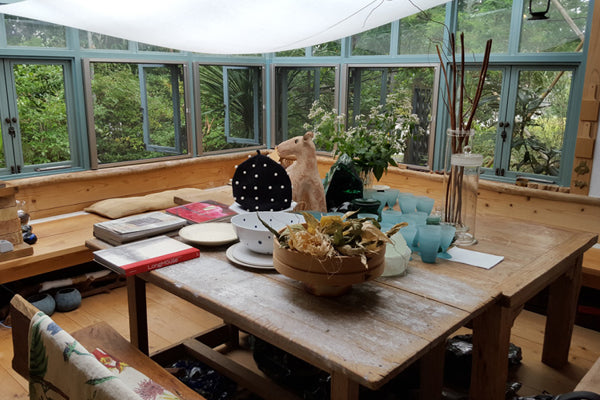 The kitchen in the home of Yoshiko Jinzenji, outside Kyoto.