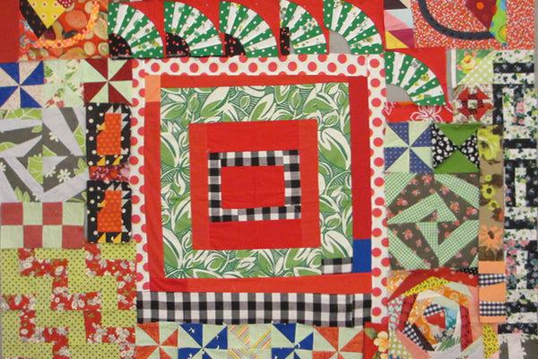 Quilt in progress by LeeAnn of Nifty Quilts