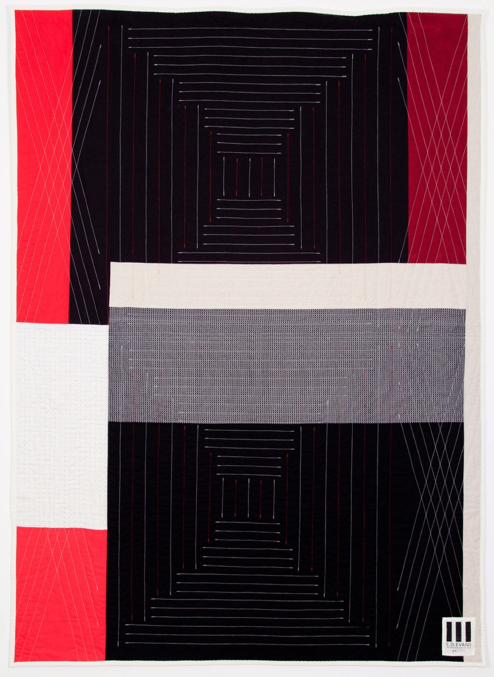 Back of Stereo quilt, by Season Evans