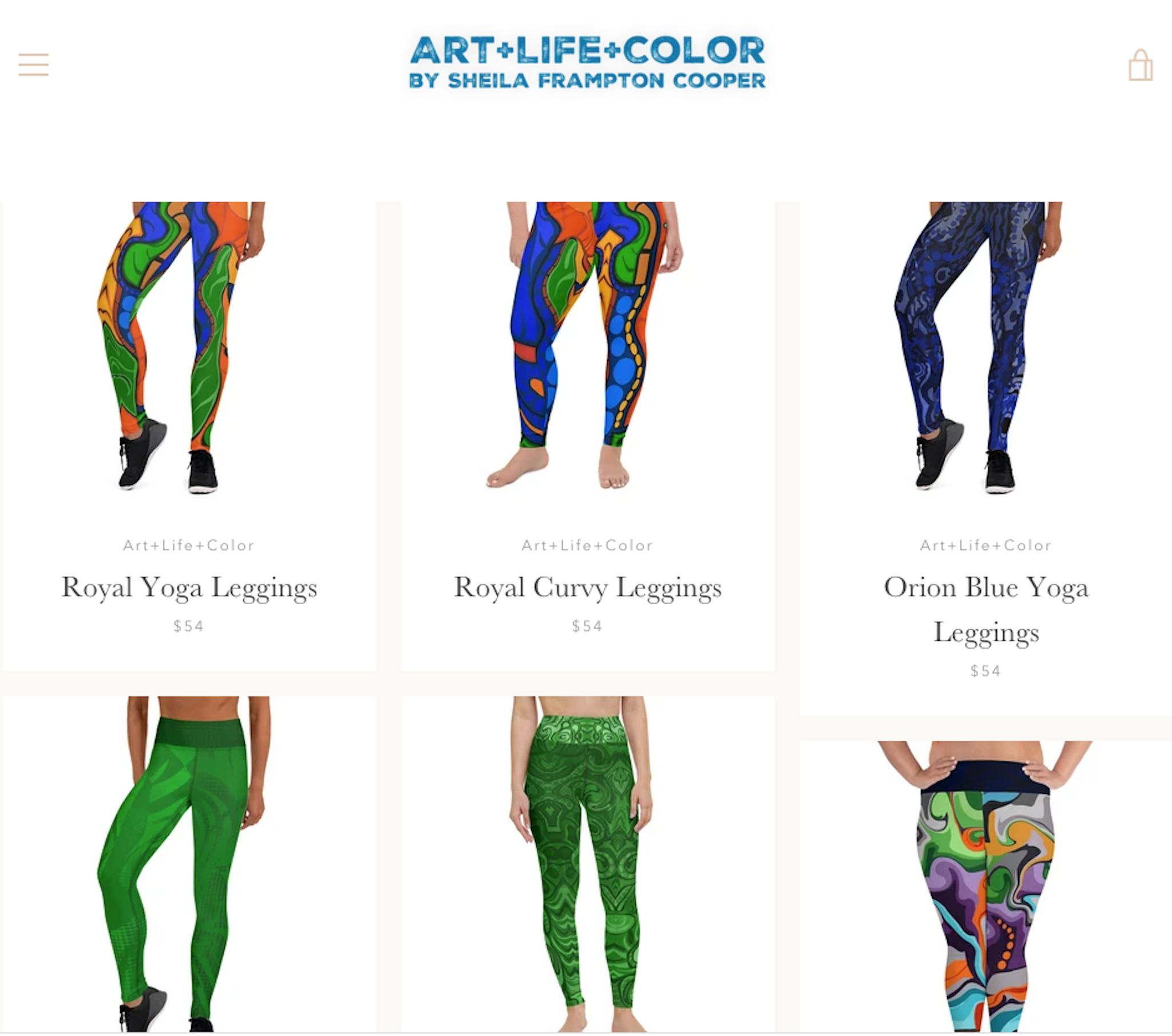 Art + Life + Color Products by Sheila Frampton Cooper
