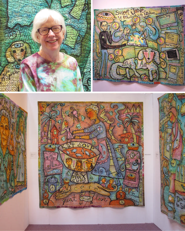 Susan Shie at The Festival of Quilts 2014