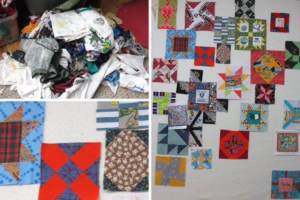 Quilts in progress by Victoria Findlay Wolfe