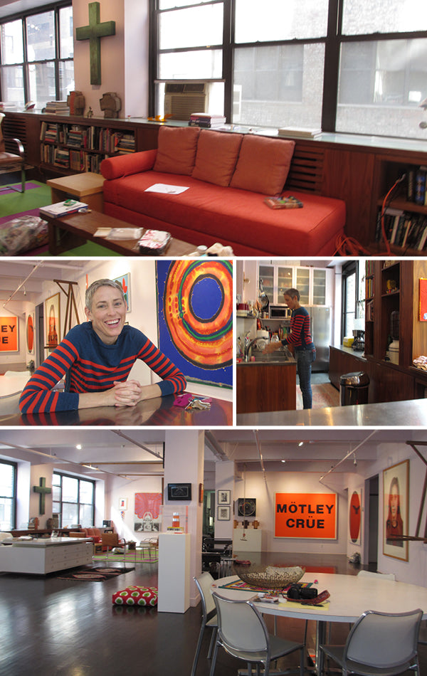 Victoria Findlay Wolfe in her NYC loft