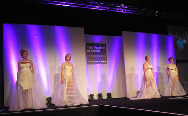 Wedding Dresses by Emily Barfield at The Festival of Quilts Fashion Show 2014