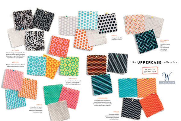 UPPERCASE Collection by Windham Fabrics, designed by Janine Vangool