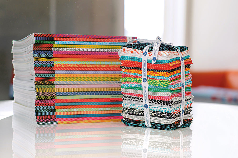 UPPERCASE Magazines and Fabric Fat Quarters, by Janine Vangool