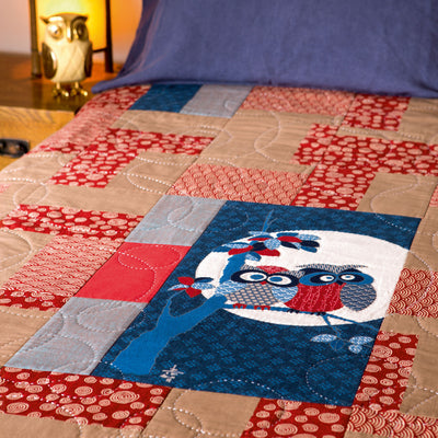 Lucky Owls, a quilt by Patricia Belyea