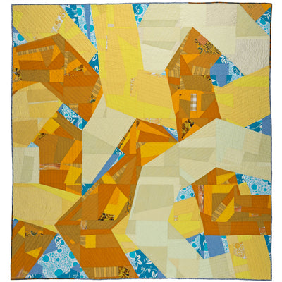Twisted Yellow, a quilt by Sarah Nishiura