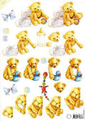 Mattie Print - Teddy Bears (boy)