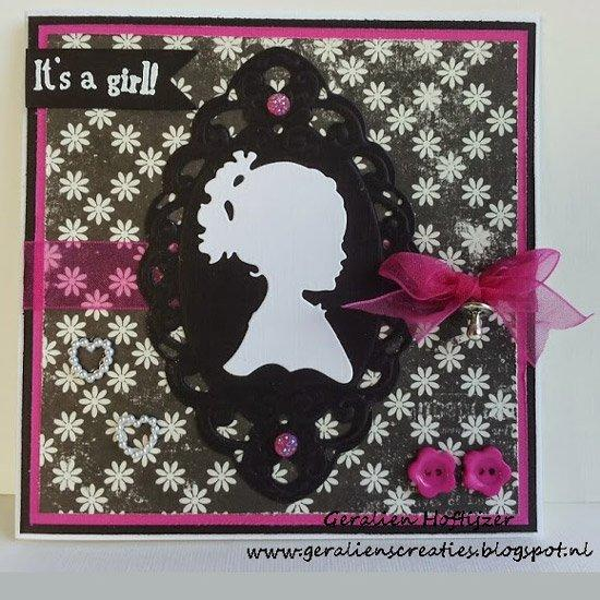 Marianne Design: Creatables Dies - Silhouette Girl With Ponytail