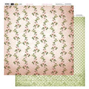 12x12 Patterned Paper  - Line Of Flowers - Vintage Rose Collection (5)
