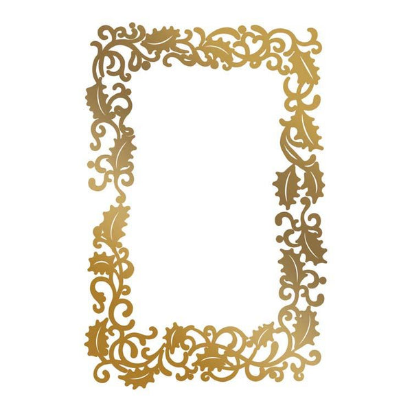 Hot Foil Stamp - Framed Holly