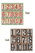 Architextures 12 x 12 Card Stock - Number Tags
