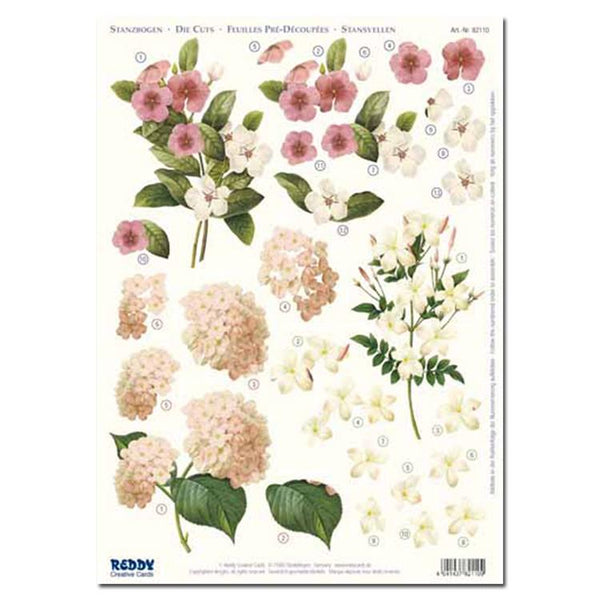 Reddy Creative Cards Die-Cut 3D Card Toppers - Checkerberry, Jasmine, Hydrangea