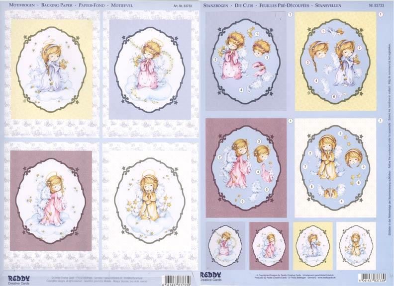 3D Precut Christmas Fairy Angels