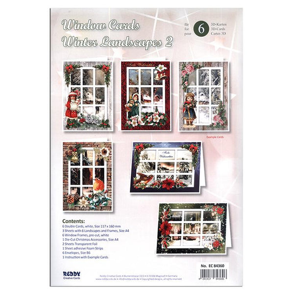 Winter Landscape  / Window Card Making Kit (2) - 6 Cards