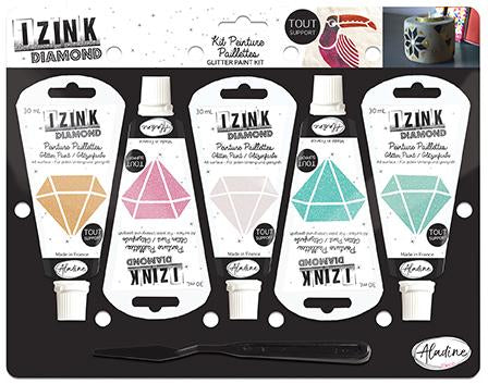 Set Of 5 IZINK Diamond - Pastels - 30 ml