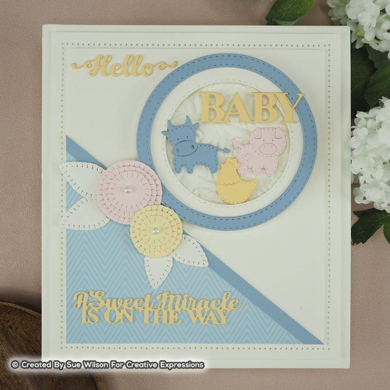 Dies by Sue Wilson Noble Sentiments Collection New Born Sentiments