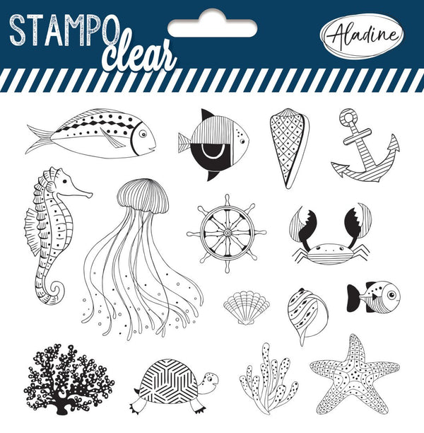 Stampo Fish Clear Stamp