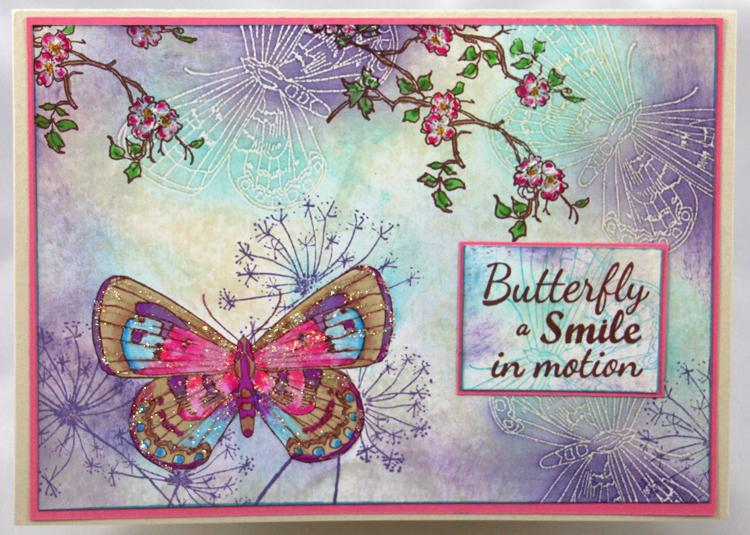 Frog's Whiskers Ink Stamp - Butterfly Smile