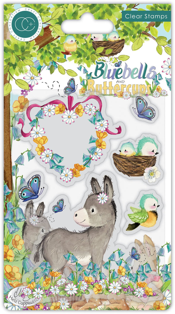 Bluebells and Buttercups - Stamp Set - Donkey
