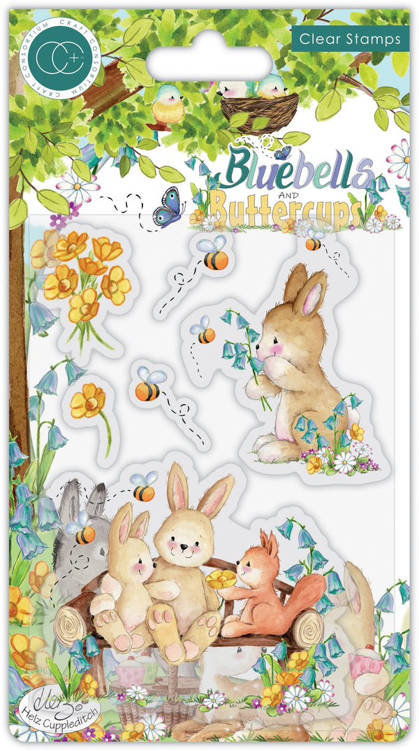 Bluebells and Buttercups - Stamp Set - Bench