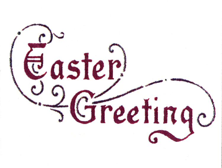 Frog's Whiskers Ink Stamp - Easter Greeting