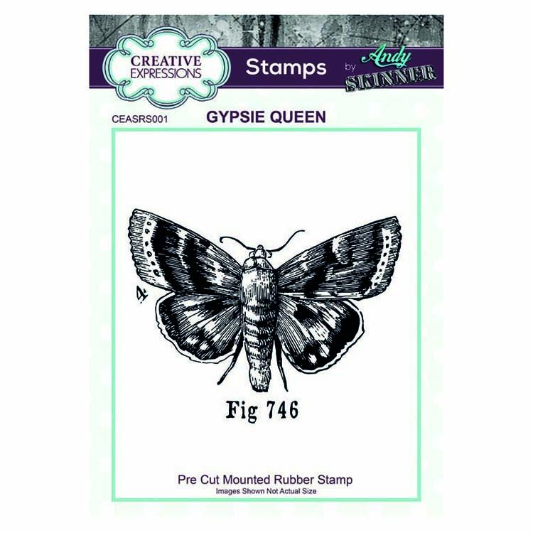Creative Expressions Pre Cut Rubber Stamp by Andy Skinner Gypsie Queen